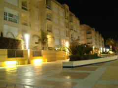Island Project Herzliya Marina at night 2