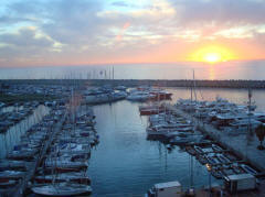 View Marina Herzliya sunset